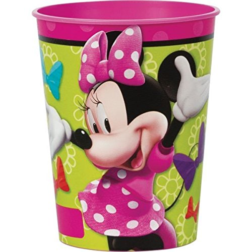 Disney Minnie Mouse Pink Favour Cup Birthday Party Tableware Prize Giveaway (1 Piece), Multi Color, 16 oz.. ()
