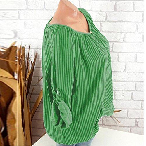 Estivi Strisce Camicetta Camicie Bluse Forti Verde Donna E Donna Camicie 5Xl Dragon868 Lungo Manica Taglie CqIxdTwxtE