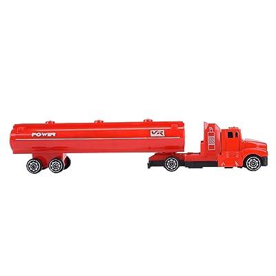 1: 32 Mini Modelo de Aleación Cisterna Niños Juguete Coche Niños Ingeniería Vehículo Transporte Camiones Cisterna Juguetes para Niños Regalos para Niños(rojo): Bebé