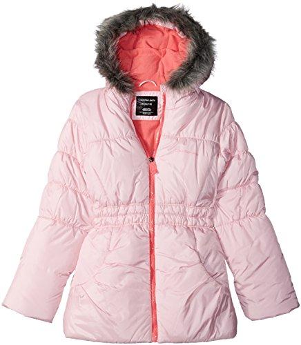 Calvin Klein Big Girls Glacial Puffer Jacket, Light Pink, 12/14 -