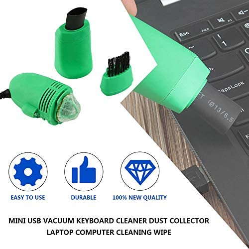 Mouchao Mini USB Vacuum Keyboard Cleaner Dust Collector Laptop Computer Cleaning Wipe