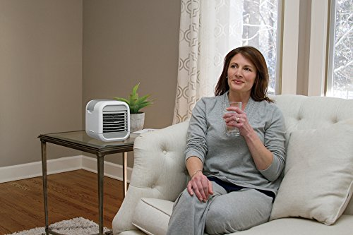 Homedics MyChill Personal Space Cooler, 4-Foot Cooling Area, Two Fan Speeds, Clean Tank Technology, Add Water, Plugs into 110v Outlet, Perfect for Office, Dorm, Nightstand, PAC-20 White by Homedics (Image #7)