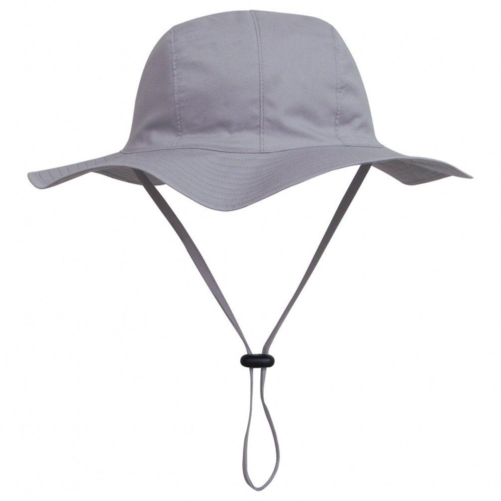 Ubbetter Unisex Child Wide Brim Sun Protection Hat Adjustable Head Size,50+ UPF Cotton (Size XL/5Years - 7Years, Dark Grey)