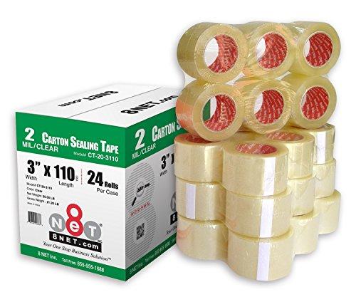 (24 Rolls 2.0 mil Multi-Purpose Industrial Shipping Packing Carton Sealing Tapes 3