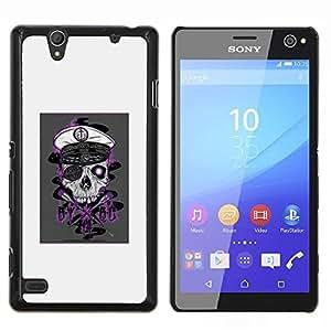 LECELL--Funda protectora / Cubierta / Piel For Sony Xperia C4 -- Cráneo del pirata --