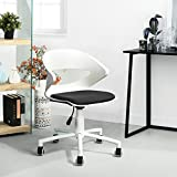 GreenForest Armless Desk Chair PP Low Back Home Office Task Chair, Black