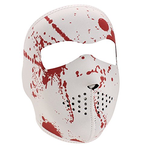Splatter Motorcycle - Zan Headgear Neoprene Blood Splatter Biker Motorcycle Full Face Mask