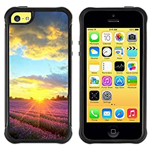 "Hypernova Defender Series TPU protection Cas Case Coque pour Apple iPhone 5C [Sunset Beautiful Nature 90""]"