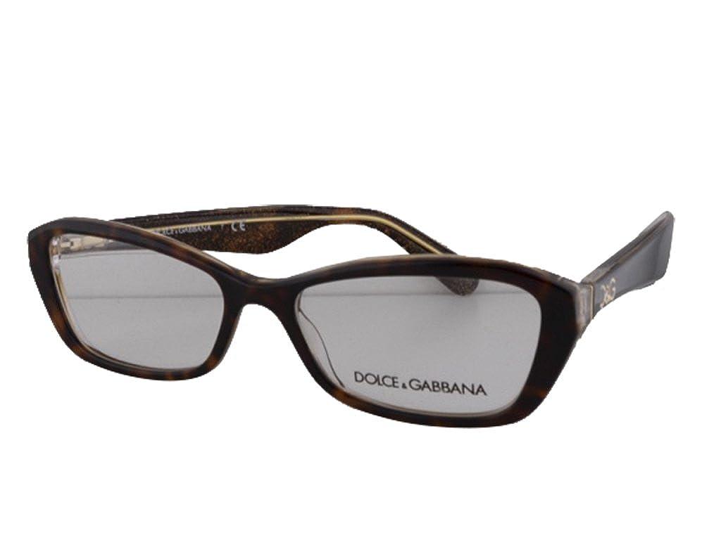 0504d49c591 Amazon.com  Dolce   Gabbana DG3168 Eyeglasses 53-16-135 Havana-Glitter Gold  2738  Clothing