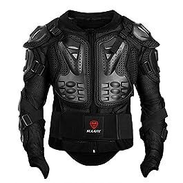 GuTe Powersports Men's Biker Jacket (MJACKET-2XL-F_Black_XX-Large)