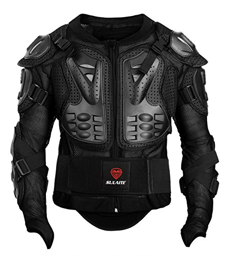 (GuTe Motorcycle Protective Jacket,Sport Motocross MTB Racing Full Body Armor Protector for Men (XL))