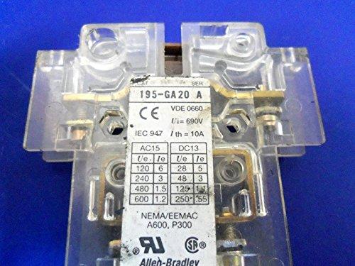 Auxiliary Contact Block (Allen-Bradley 195-GA20 Auxiliary Contact Block Ser A 2-NO 2-NC)