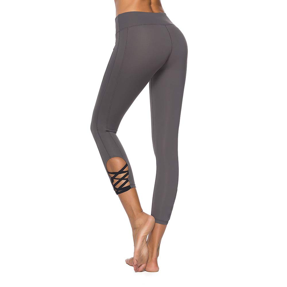 697c2d090f ... Mint Lilac Womens High Waist Workout Yoga Pants Athletic Tummy Control  Leggings ...