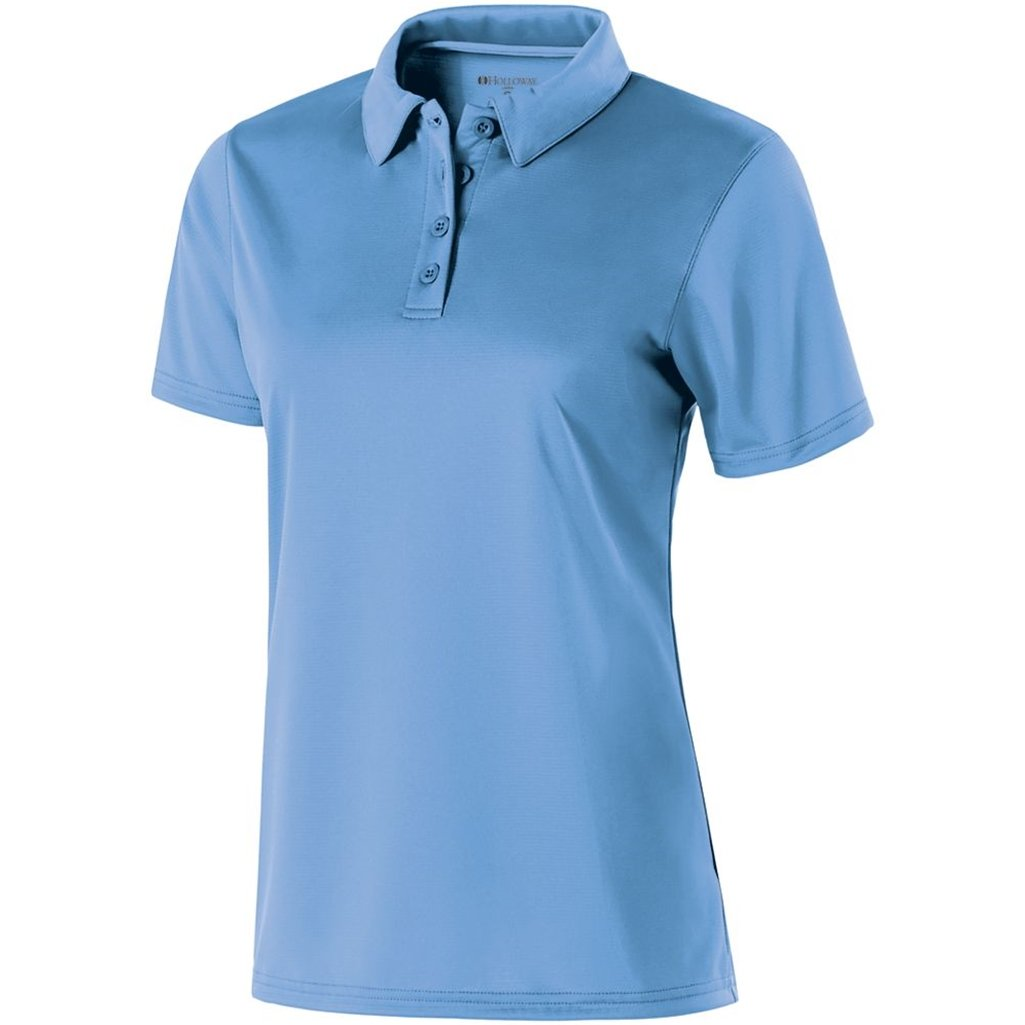 Holloway Ladies Dry Excel Shift Polo (X-Large, University Blue) by Holloway