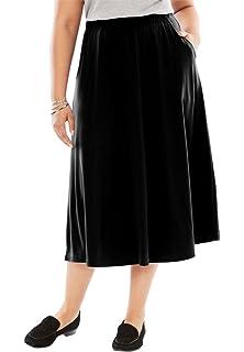 8c3f1977583fc WM Women s Plus  Tasmin  Flare Midi Skirts at Amazon Women s ...