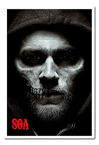Sons Of Anarchy Jax Skull Poster Cork Pin Memo Board White Framed - 96.5 x 66 cms (Approx 38 x 26 inches)