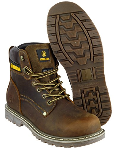 Amblers Lace-Up Textile Lined Mens Boots - Brown - Size 6 7 8 9 10 11 Brown Crazy Horse