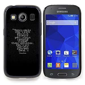 Qstar Arte & diseño plástico duro Fundas Cover Cubre Hard Case Cover para Samsung Galaxy Ace Style LTE/ G357 (Alla gente non piace Lei)