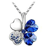 pavel steel jewelry - Swarovski Elements Crystal Four Leaf Clover Pendant Necklace 19