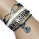DOLON Infinity Football Cowboys Bracelet- Handmade Leather Braided Fans Gift