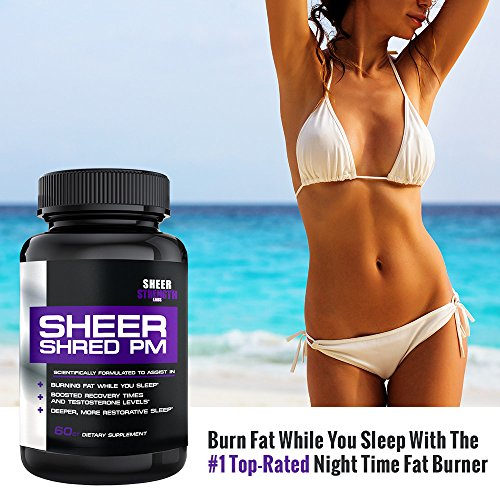 Sheer-SHRED-PM-Nighttime-Fat-Burner-and-Sleep-Aid-Supplement-60-Stimulant-Free-Weight-Loss-Pills