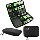 RUNFON Cable Organizer , Electronics Accessories Travel Bag, Hard Drive Case for USB ,Phone Charger, Charging Cable, Power Bank carry case (black)