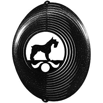Papillon Dog BLACK Metal Swirly Sphere Wind Spinner *NEW*