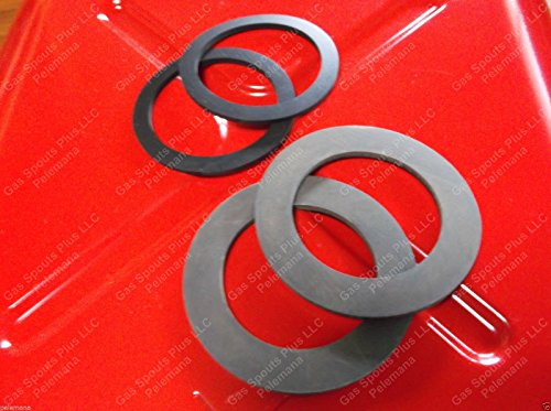 4 New Jerrycan Rubber Nitrile Gaskets Total = 2 Jerry SPOUT GASKET + 2 Jerry CAN CAP GASKET Fuel Gas Diesel Blitz Metal USMC Military Civilian G Cans 20L FITS SCRIBNER RACING FUEL CANSGASKETS ONLY