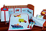 Aurraa Transport Theme Crib Bedding set without Bumper-9 Pcs (CB-10109)