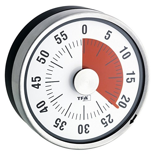 La Crosse Technology 38.1028.10 Puck Kitchen Timer, Anthracite/Black TFA Dostmann