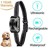 Cheap CMFLOWER Bark Collar 2018 Rechargeable Ultrasonic Vibration Auto Anti Dog Barking Training Collar