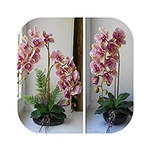 Blue Skieses Orchid Silk Real Touch Artificial Flower Wedding Flower Orchid Flowers Christmas Party 120
