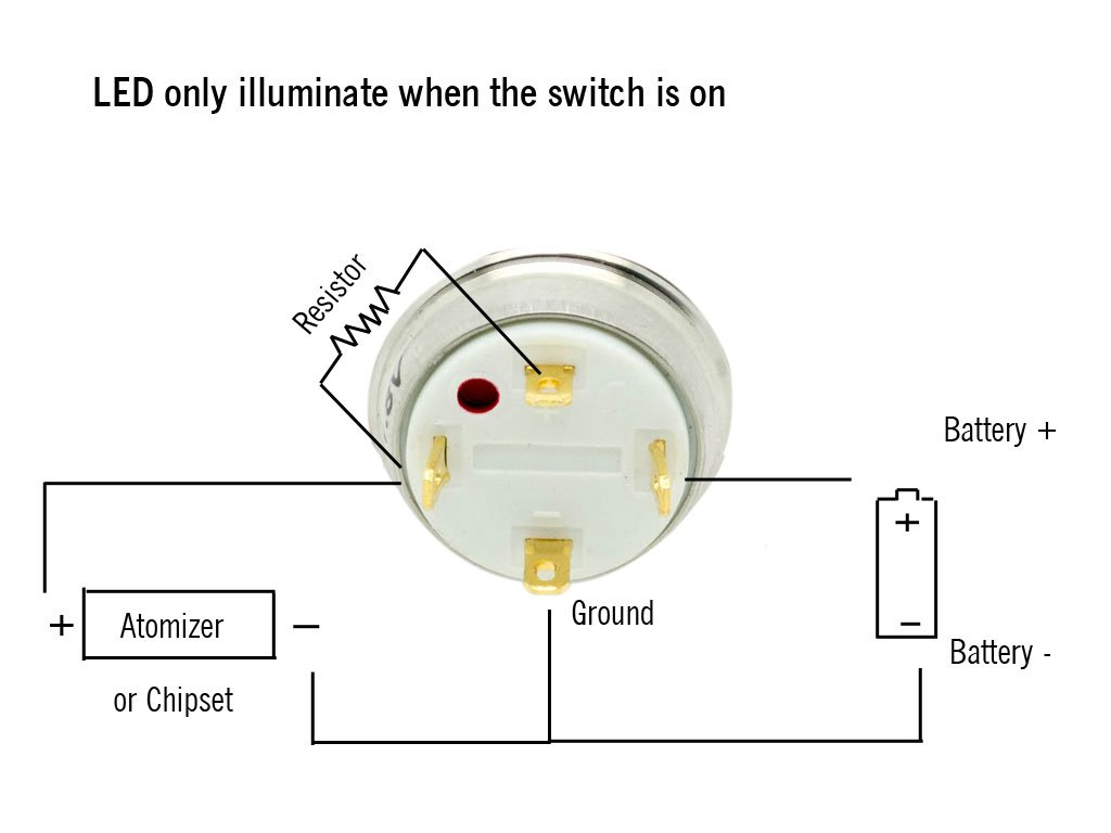 Push Button Wiring Diagram : Led momentary switch wiring diagram