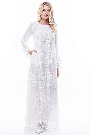 c679fd6d0edfe ModWhite Poppy White Temple Dress at Amazon Women s Clothing store