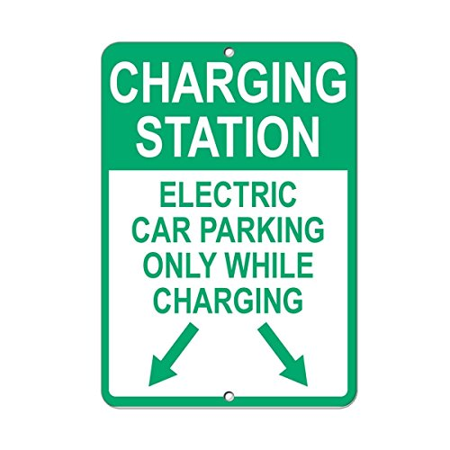 Glad grace Charging Station Electric Car Parking Charging Style 3 Aluminum Metal Sign