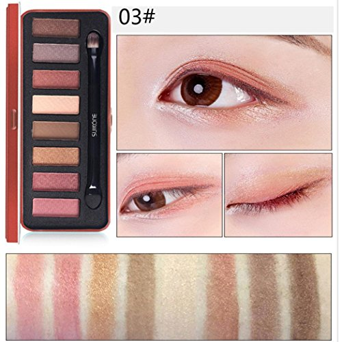 8 Colors Eyeshadow Eye Shadow Cosmetics Palette for Home and Professional Use,By Whillows (C) (Cargo Color Eye Shadow Palette)