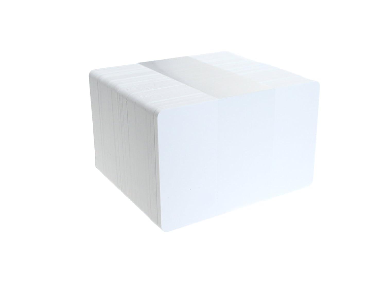 ID Card IT CR80 - Carte ID in plastica senza decorazione, spessore 760 micron, colore: Bianco WHITE30MIL
