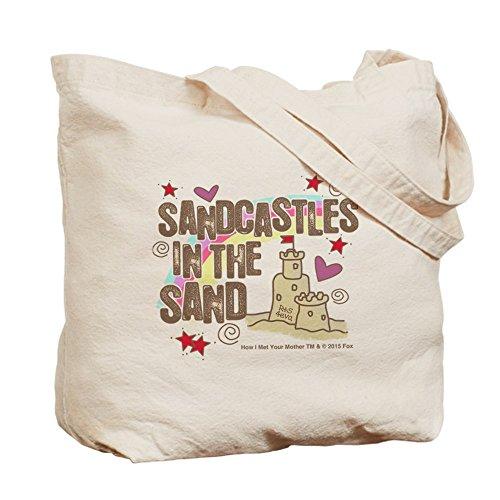 CafePress–HIMYM Sandcastles–Gamuza de bolsa de lona bolsa, bolsa de la compra