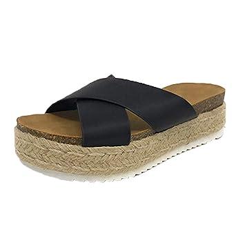 LILICAT✈✈ Mujer Sandalias de cuña,Zapatos del Verano,cómodo,Plana 2019