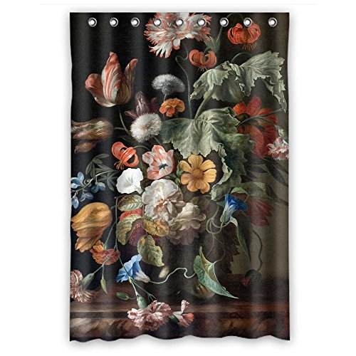 Sunsmiles Shower Curtains Art Bathroom drape Width X Height / 48 X 72 Inches / W H 120 By 180 Cm Modern Design Mildew Resistant Famous Classic Art Painting Flowers Blossoms