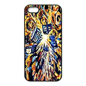 Custom Police Call Box Tardis Durable Protector Back Cover Case for iPhone 5 5s TPU