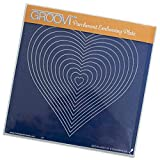 Groovi by Claritystamp ~ Nested Hearts A5 Square Plate, GRO40094