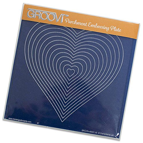 GRO40094 Groovi by Claritystamp ~ Nested Hearts A5 Square Plate