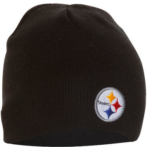 Steelers Pennant Pittsburgh Throwback ('47 NFL Pittsburgh Steelers Beanie Knit Hat, Black, One Size)