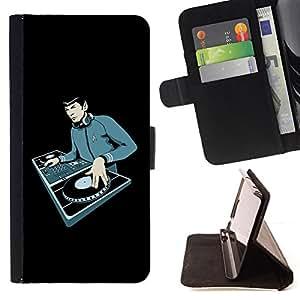 BullDog Case - FOR/HTC Desire 820 / - / Space Guy DJ /- Monedero de cuero de la PU Llevar cubierta de la caja con el ID Credit Card Slots Flip funda de cuer