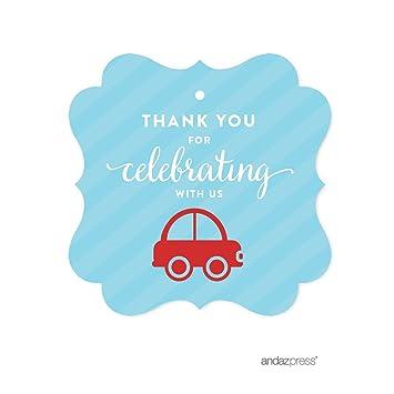 Amazon Com Andaz Press Birthday Fancy Frame Gift Tags Thank You