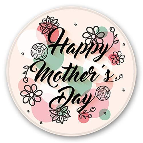 (WaiiMak Mother's Day Series Printing Round Flannel Kitchen Anti-Slip Mats Children's Room Carpet 120cm (A))