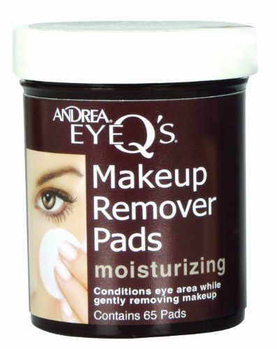 Andrea Eye Q's Oil-free Eye Makeup Remover Pads, 65 Count by Andrea
