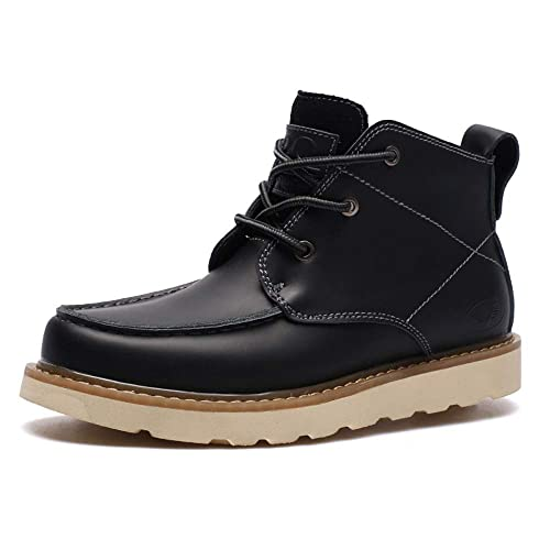 Botines Hombre Otoño Lace Up Botas Cuero Suave Retro Zapato de Trabajo - GENBOOTS (B40