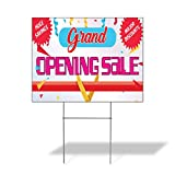 Grand Opening Sale Major Discounts Outdoor Lawn Decoration Corrugated Plastic Yard Sign - 12inx18in, Free Stakes